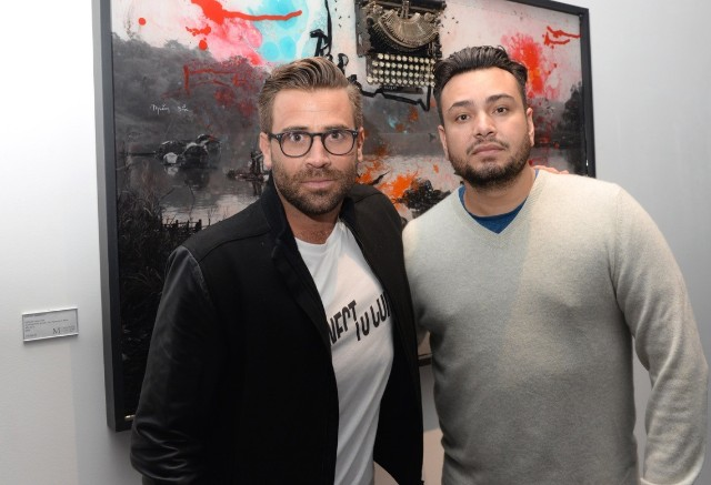 """Jason Wahler & Frankie Delgado at the officialVIP preview of""""Empyrean,"""" by Raphael Mazzuccohosted by Petra Ecclestone and Sam Palmer"""
