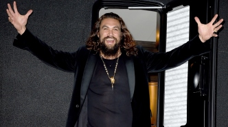 Jason Momoa arrives at the premiere