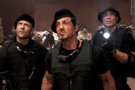 Jason Straham and Sly Stallone in The Expendables