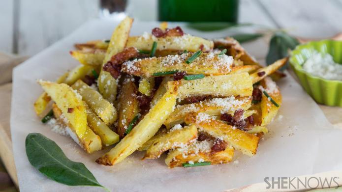 Super-easy french fries alla carbonara