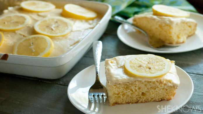 Fresh Meyer lemonade cake