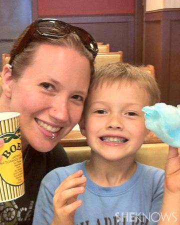 Jenni and her son Richard