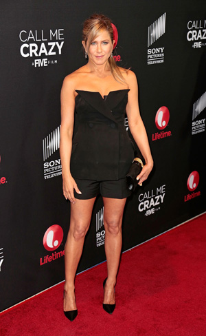 Jennifer Aniston at premiere of Call Me Crazy