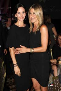 Jennifer Aniston and Courteney Cox on the outs