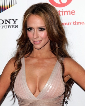 Jennifer Love Hewitt shows a lot of cleavage at The Client List premiere.
