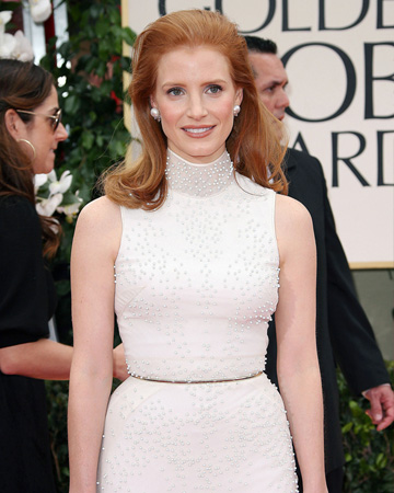 Jessica Chastain at the 2012 Golden Globes