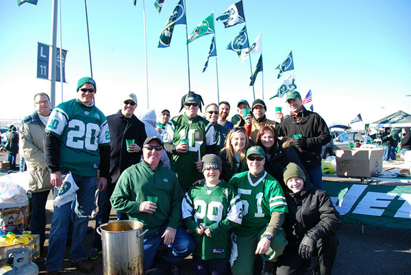 Jets tailgate party