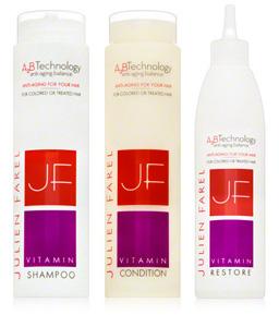 Julien Farel Haircare Vitamin Shampoo and Condition, and Julien Farel Haircare Restore