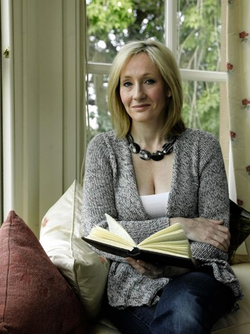 JK Rowling reading a masterpiece