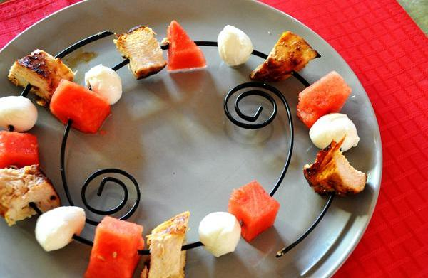 Tonight's Dinner: Watermelon and chicken kebabs