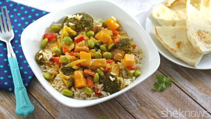 Meatless Monday: Indian veggie korma loaded
