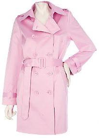 Joan Rivers pink trench coat