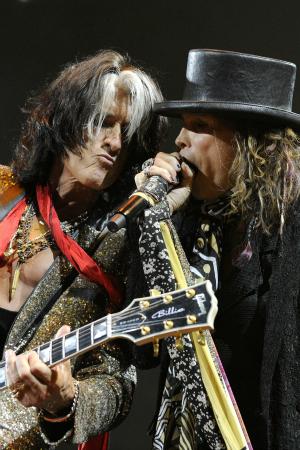 Joe Perry and Steven Tyler of Aerosmith Performing
