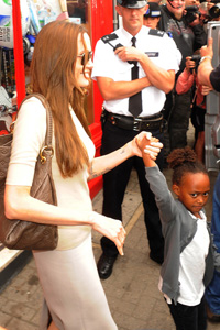 angelina jolie and zahara in London