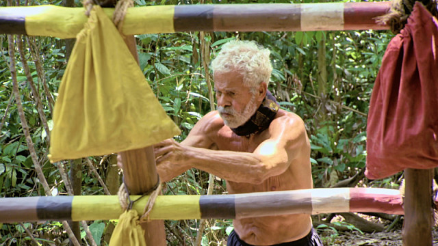 Joseph Del Campo competes in Reward challenge on Survivor: Kaoh Rong