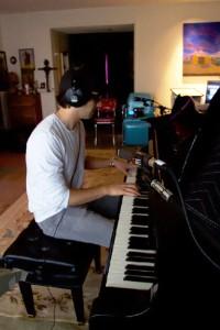 Josh Groban in the studio