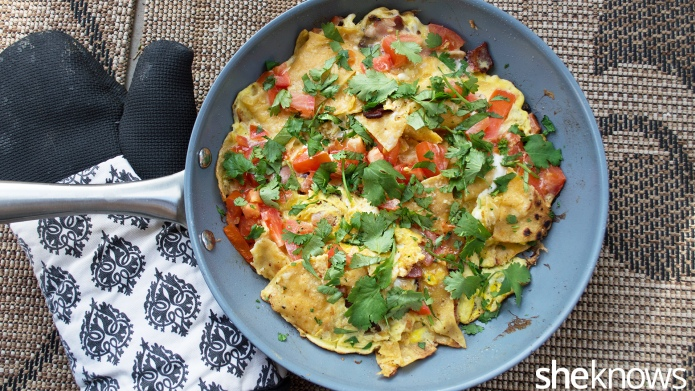Bacon and tomato migas — a