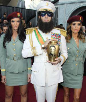 The Dictator hits Ryan Seacrest with