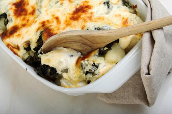 Tonight's Dinner: Baked pasta with spinach