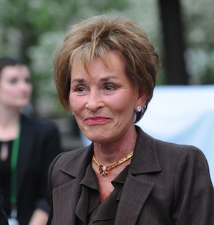 Judge Judy at a Vanity Fair party in 2012.