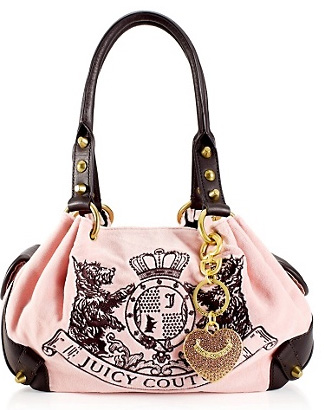Juicy Couture New Scottie Embroidery Baby Fluffy Bag