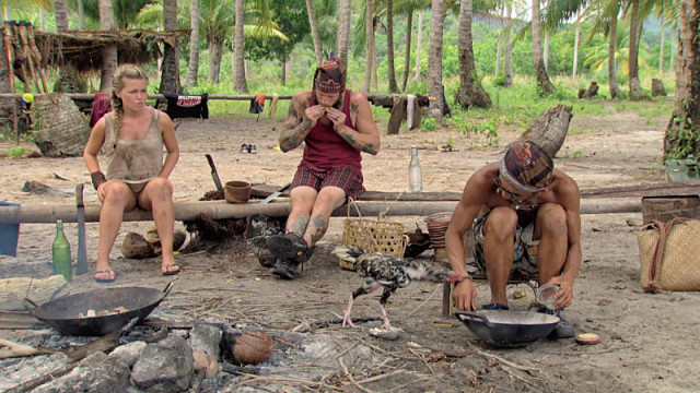 Julia Sokolowski with Kyle Jason and Tai Trang on Survivor: Kaoh Rong