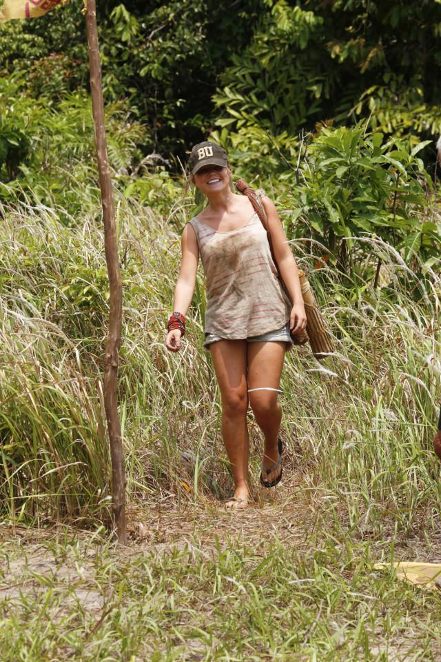 Julia Sokolowski walks around camp on Survivor: Kaoh Rong