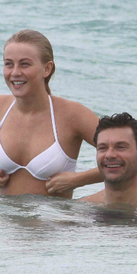Julianne Hough and Ryan Seacrest on Vacation in St. Barts
