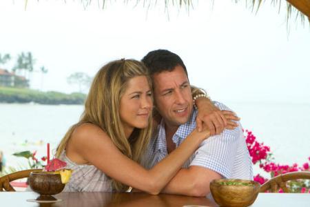 Jennifer Aniston and Adam Sandler