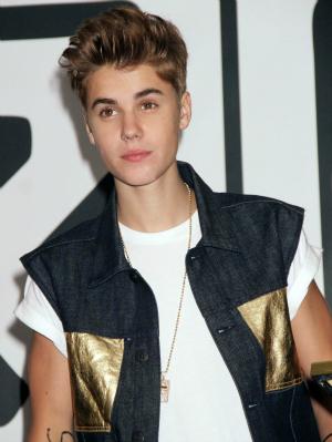 Justin Bieber at JR Music