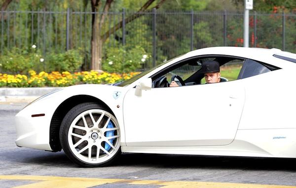 Justin Bieber's Ferrari 438