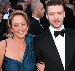 Justing Timberlake and mom
