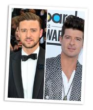Justin Timberlake vs Robin Thicke