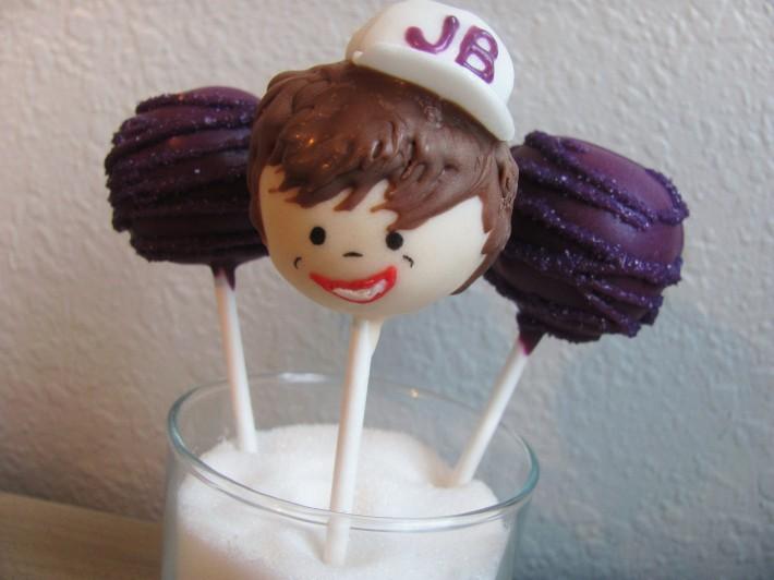 justin bieber cake pops