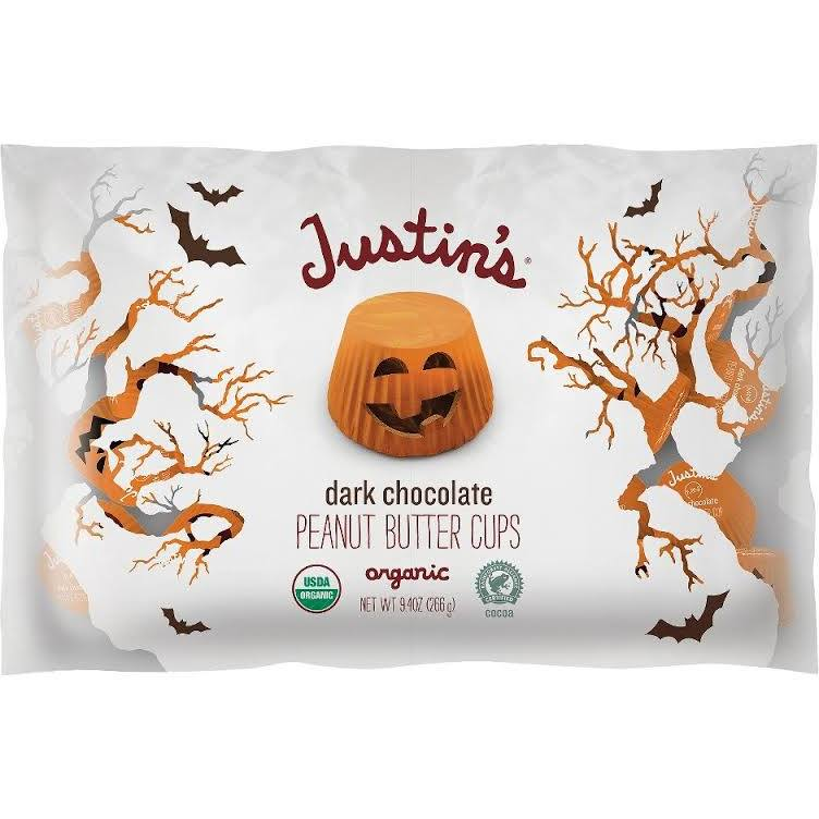 Justin's Halloween dark chocolate peanut butter cups