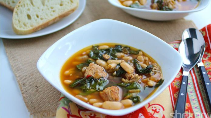 One-Pot Wonder: Hearty sausage, bean and