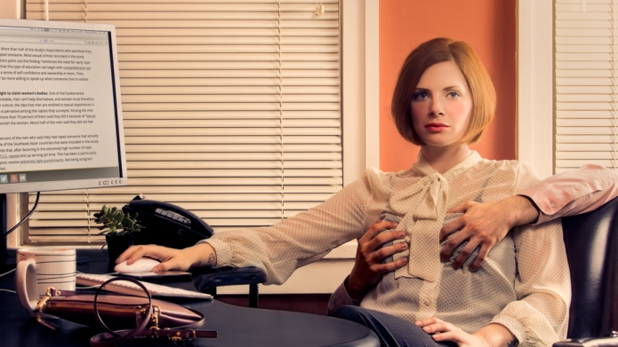 Alarming photo series captures sexual aggression