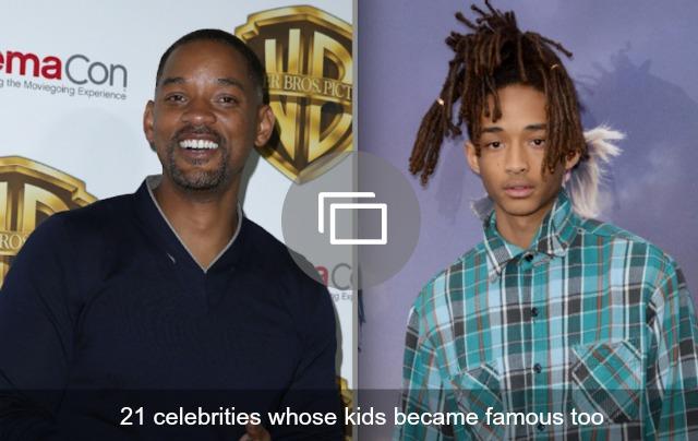 21 celebs whose kids became famous too