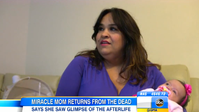 C-section mom survives 45 minutes without