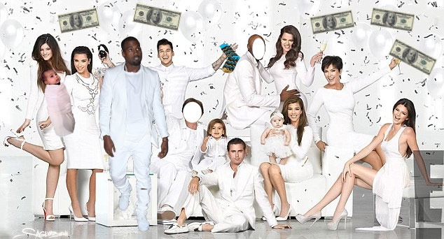 Kardashian Christmas card 2013