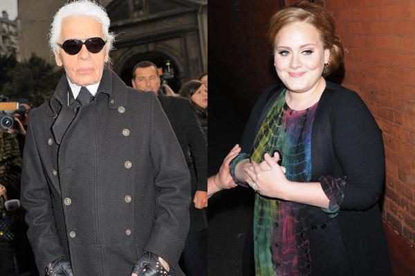 Karl Lagerfeld disses Adele