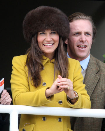 Kate wearing fluffy hat