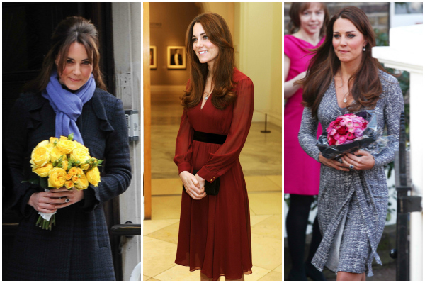 Kate Middleton December, January, and February