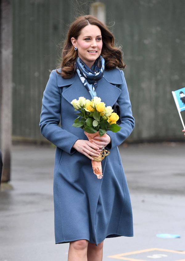 Kate Middleton blue coat baby gender speculations