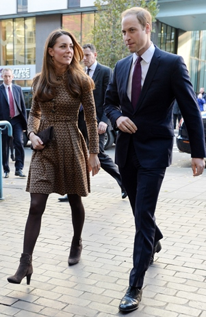 Kate Middleton's brown booties