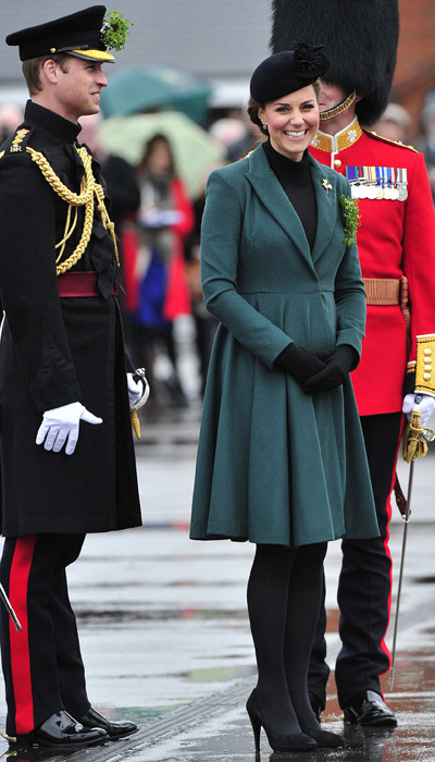 Pregnant Kate Middleton baby bump and Prince William