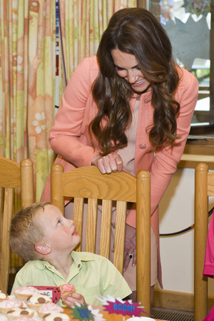 Kate Middleton will be a natural mother