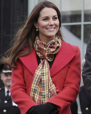 Kate wearing scarf