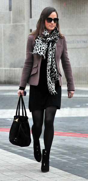 Kate with blah bag and scarf