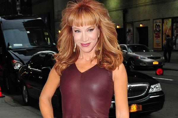 Kathy Griffin outside Letterman